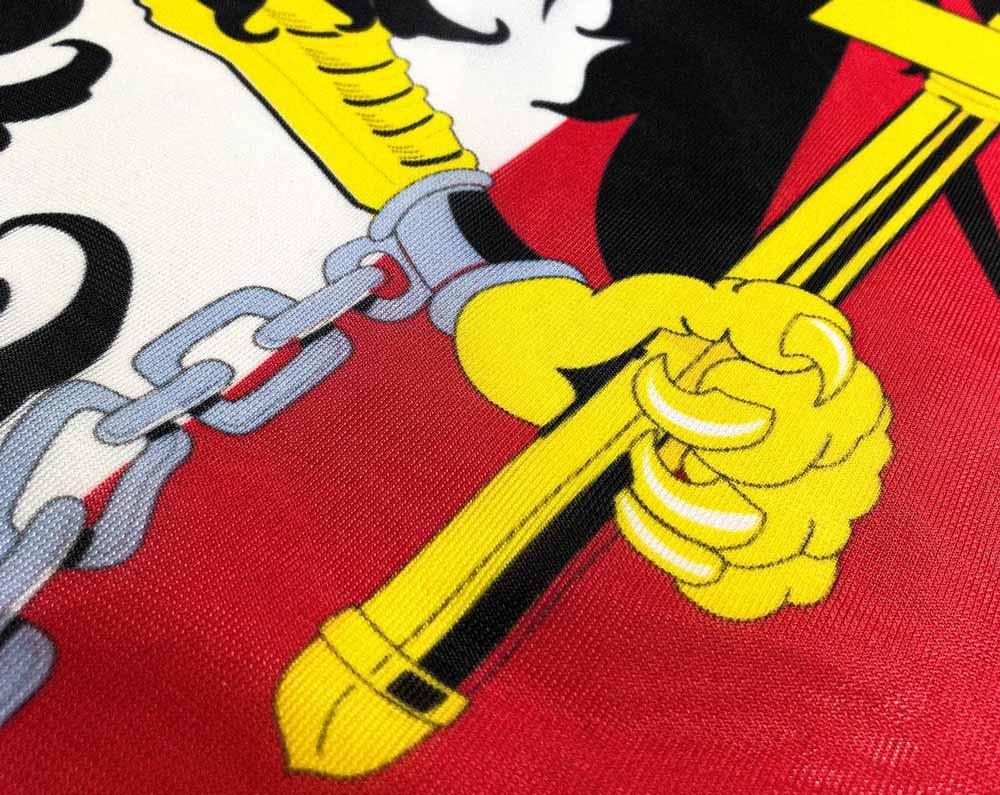 Österreich-Flagge mit Wappen bedrucken lassen