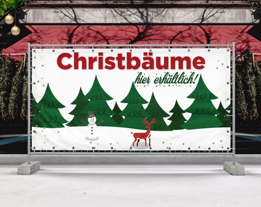 Christbäume / Weihnachtsbaum - PVC Plane für Bauzäune, Banner