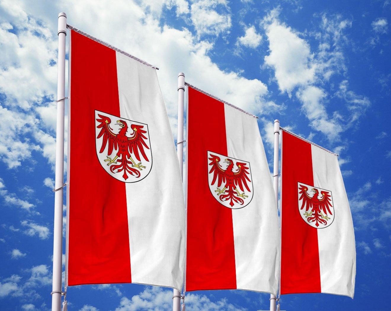 Brandenburg-Flagge mit Wappen bedrucken lassen
