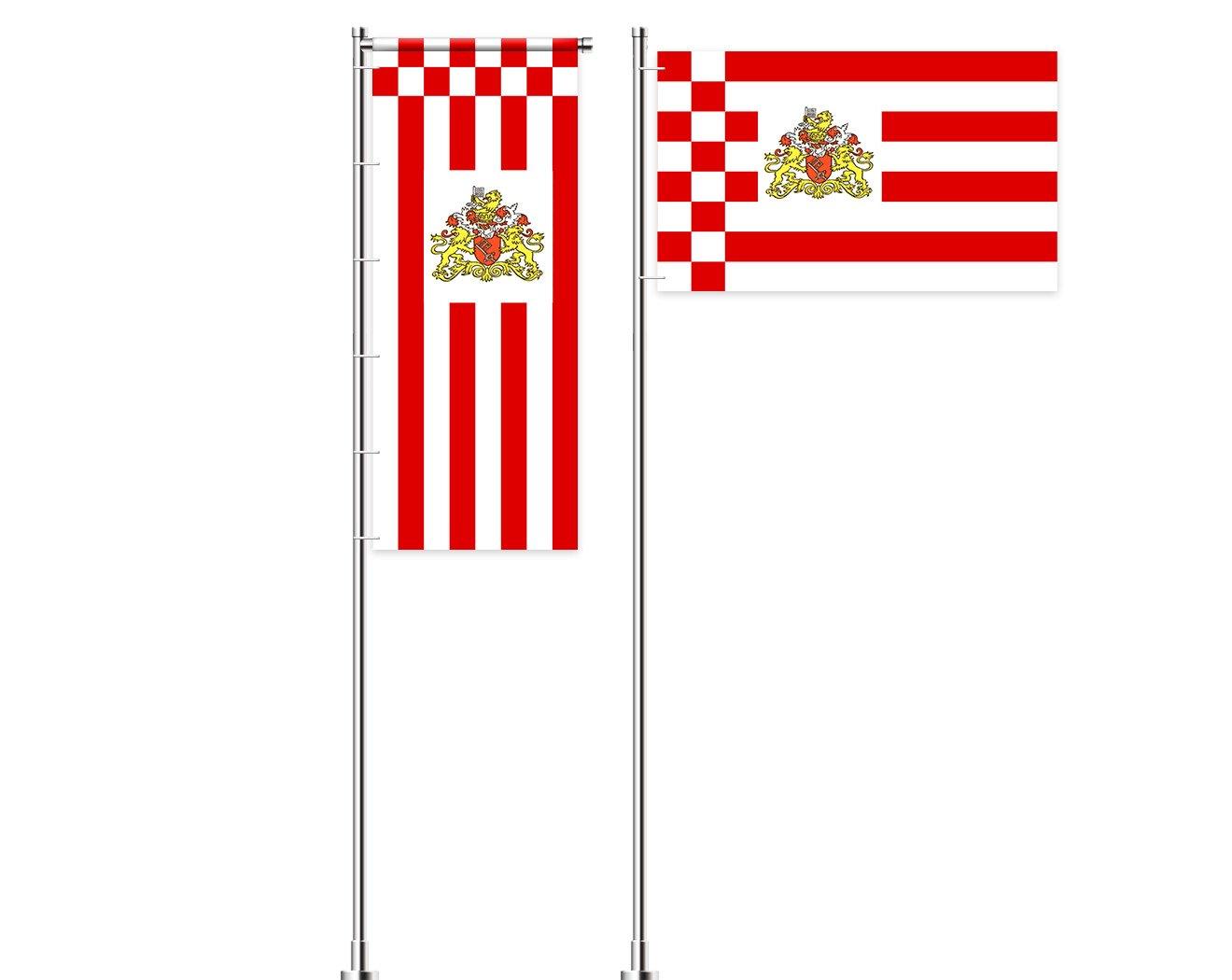 Bremen-Flagge mit Wappen bedrucken lassen