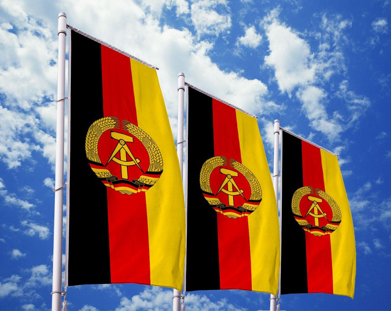 DDR-Flagge mit Wappen bedrucken lassen