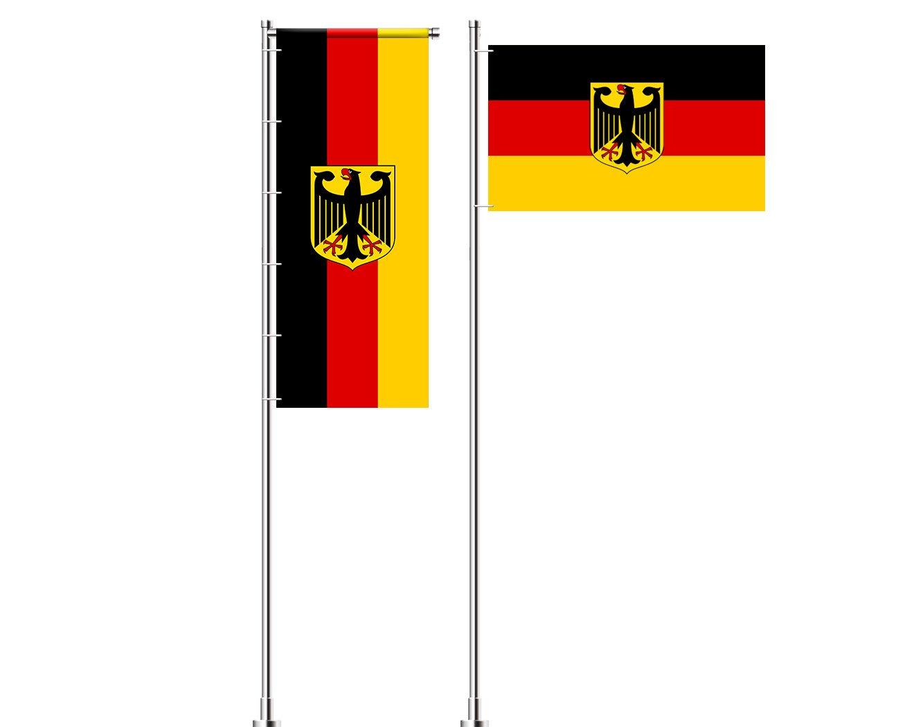 Deutschland-Flagge mit Adler bedrucken lassen