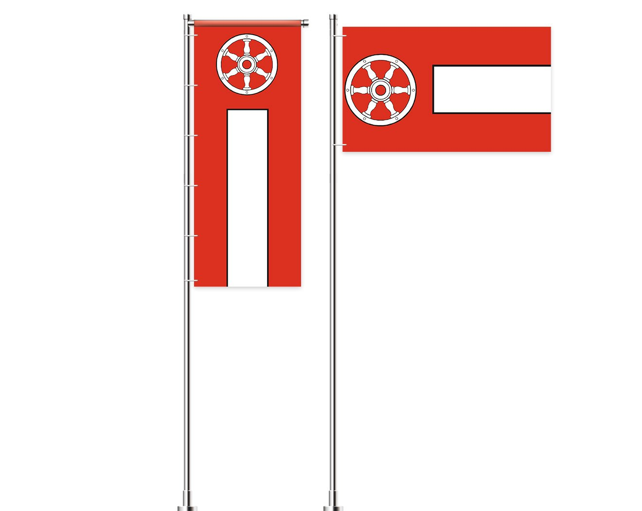 Erfurt-Flagge mit Wappen bedrucken lassen