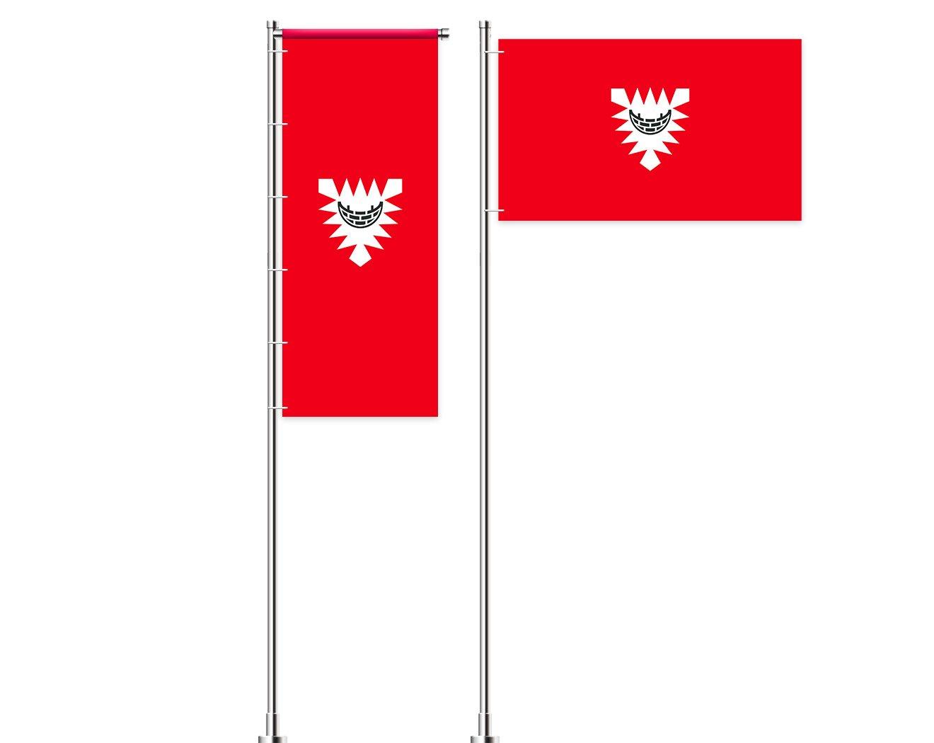 Kiel-Flagge mit Wappen bedrucken lassen