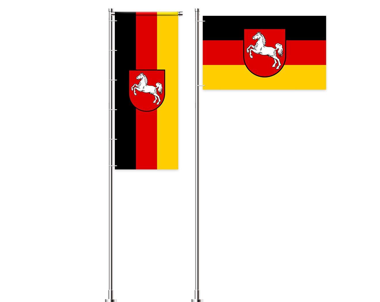 Niedersachsen-Flagge mit Wappen bedrucken lassen