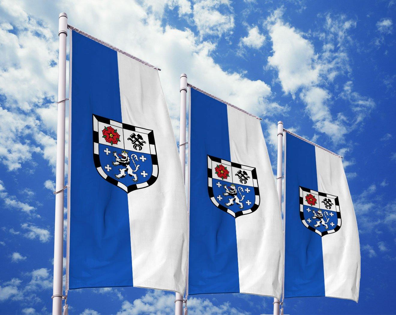 Saarbrücken-Flagge mit Wappen bedrucken lassen