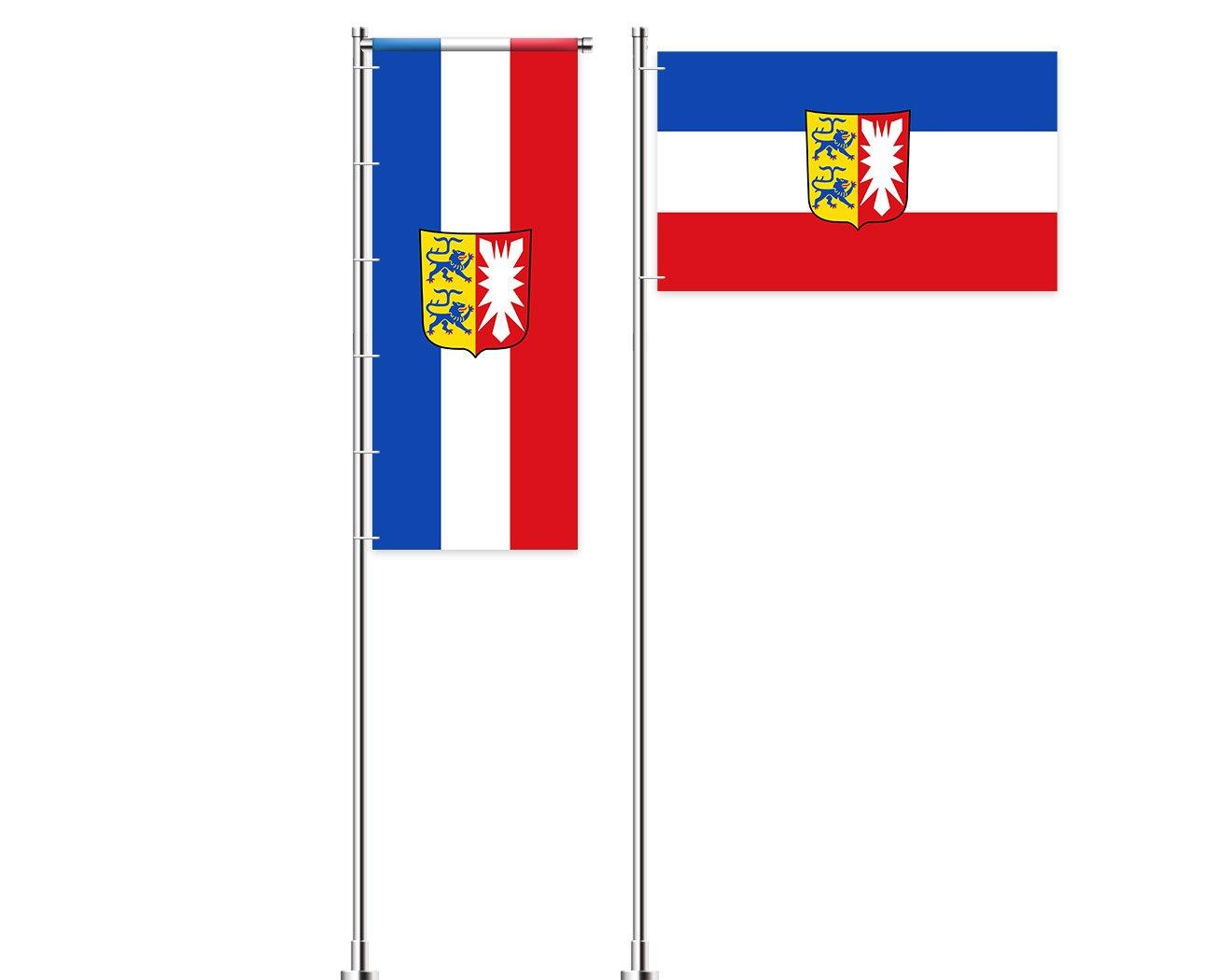Schleswig-Holstein-Flagge mit Wappen bedrucken lassen