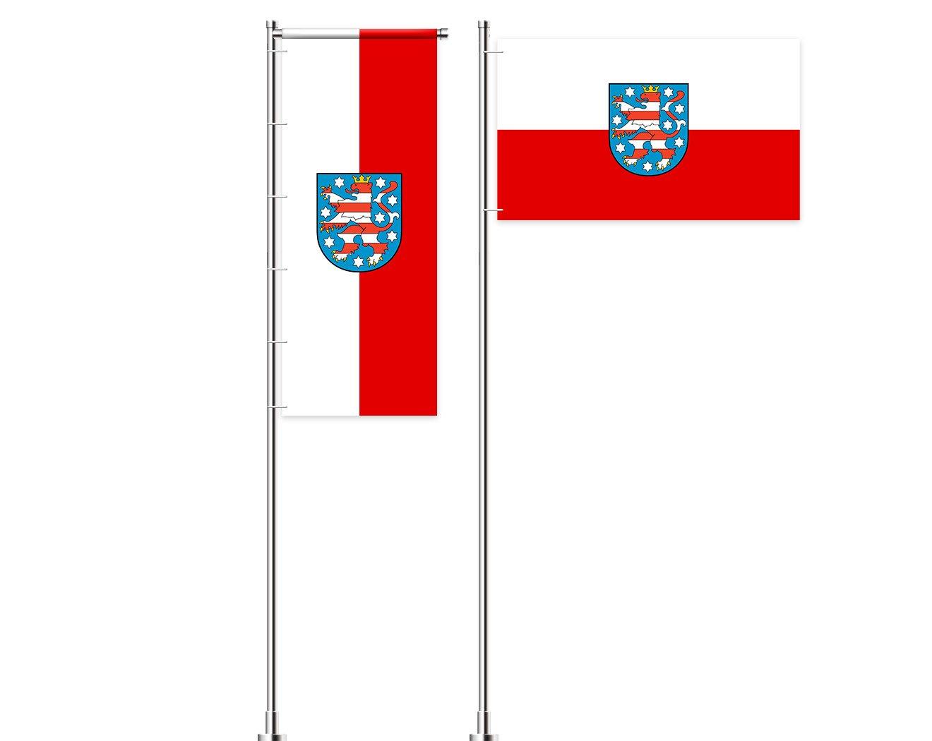 Thüringen-Flagge mit Wappen bedrucken lassen