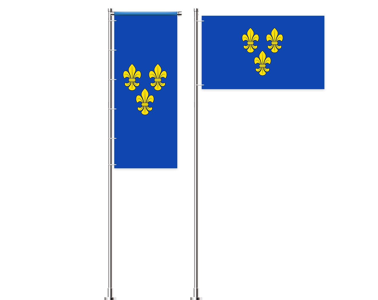 Wiesbaden-Flagge mit Wappen bedrucken lassen