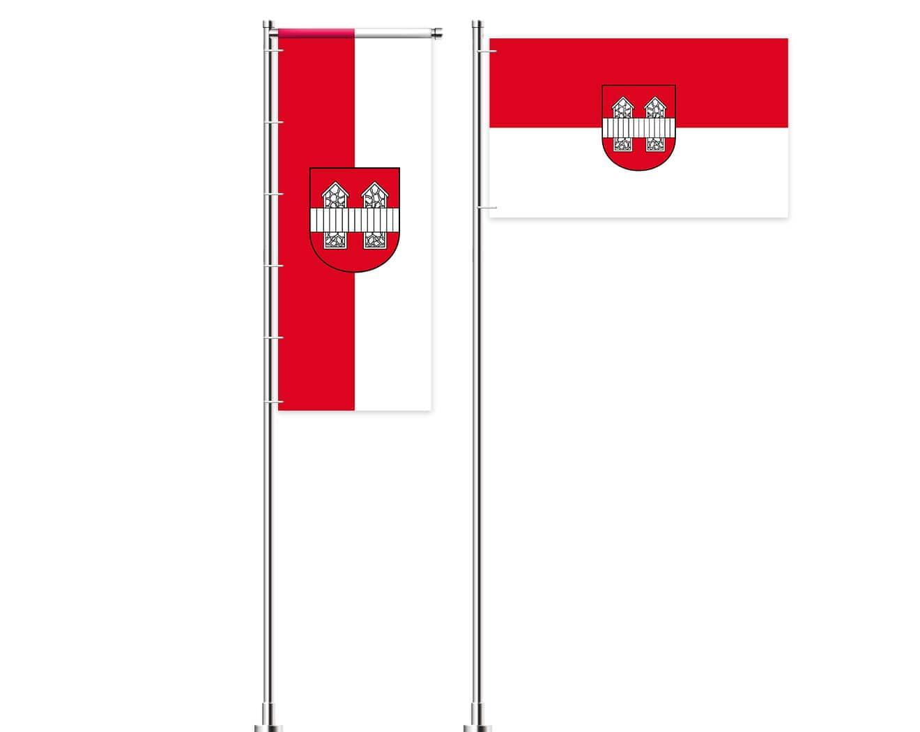 Innsbruck-Flagge mit Wappen bedrucken lassen