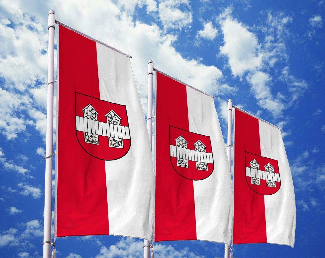 Innsbruck Flagge mit Wappen