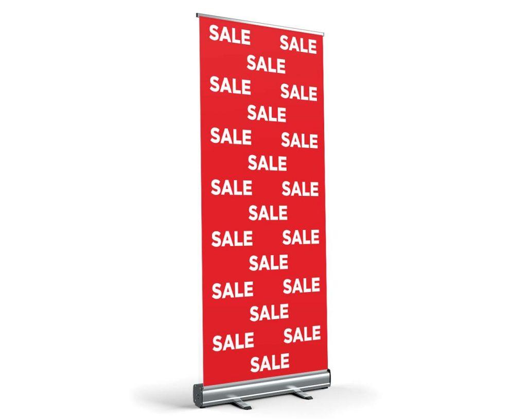 SALE - Roll-Up - Werbebanner Werbeplane PVC