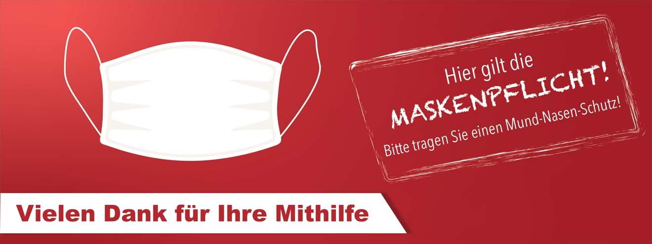 Maskenpflicht Banner bedrucken lassen