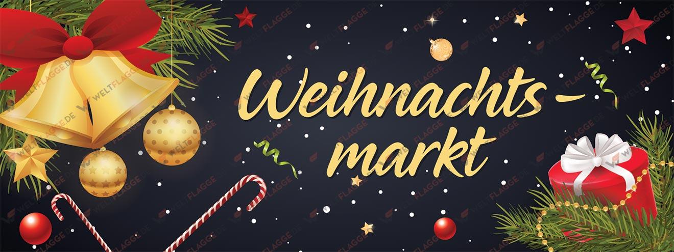 Weihnachtsmarkt Banner bedrucken lassen