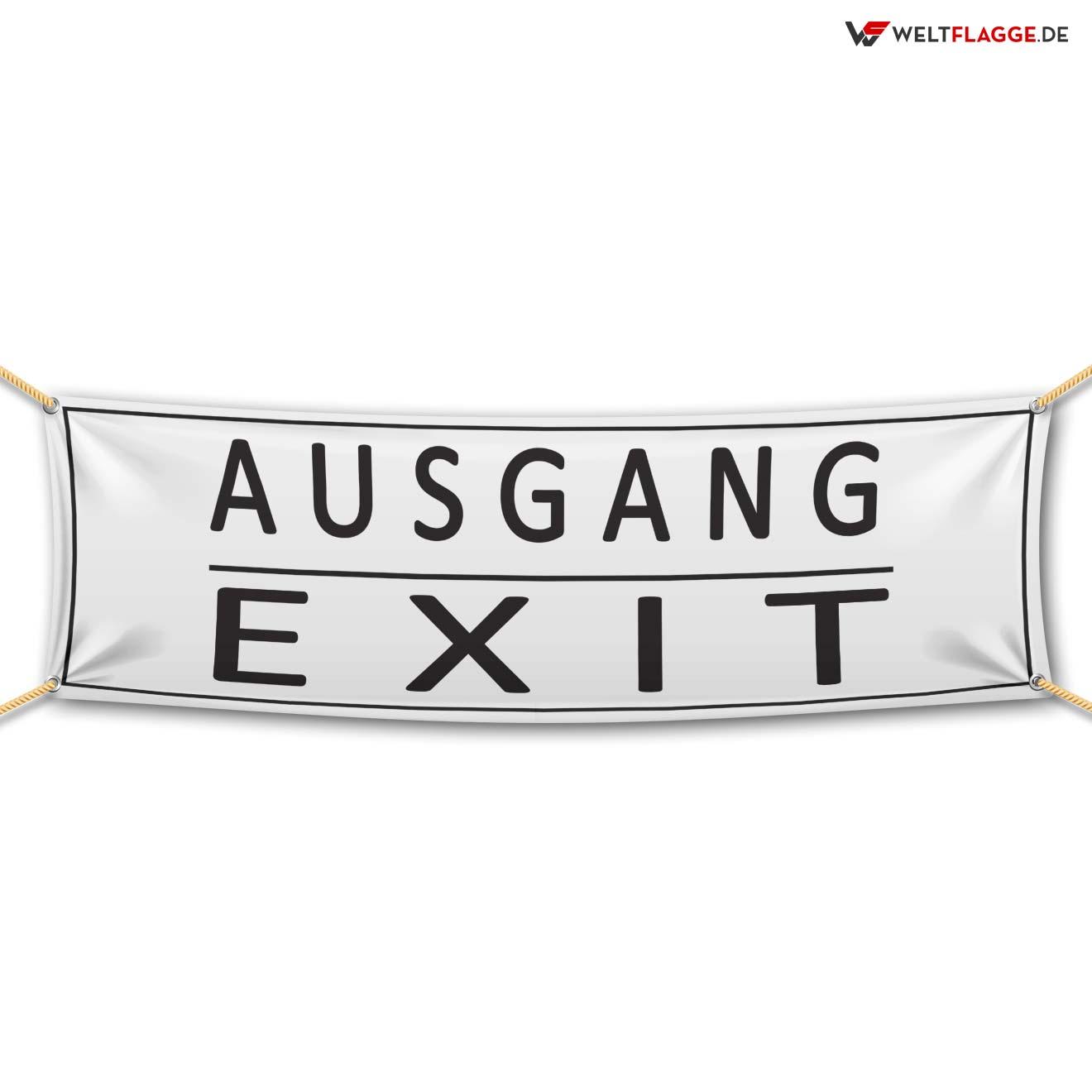 Ausgang / Exit Werbebanner bedrucken lassen