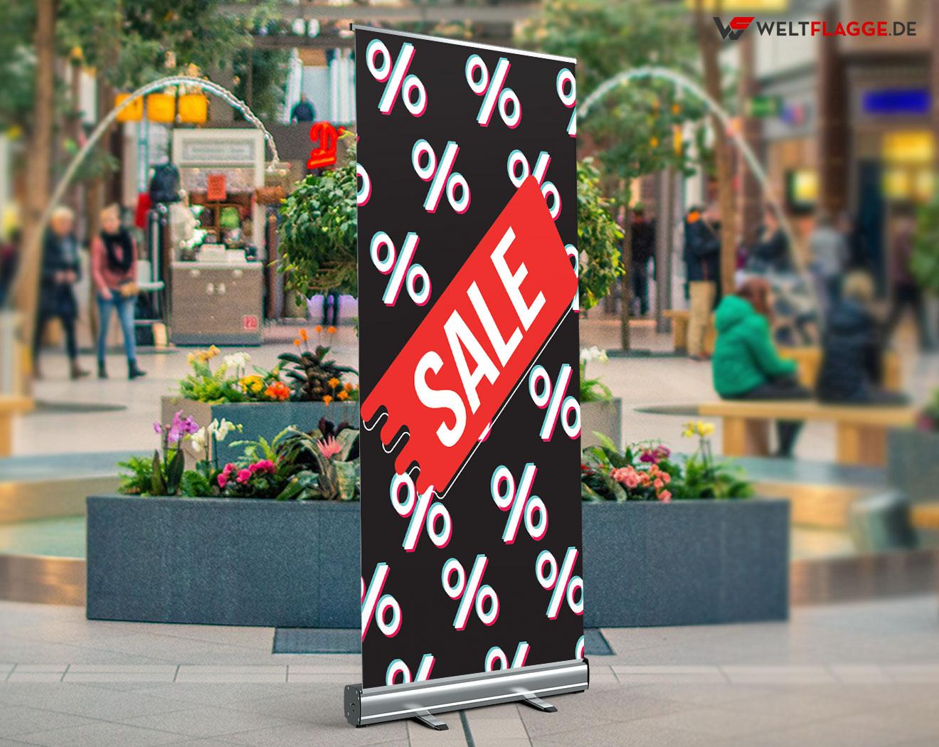 SALE Roll-Up Banner bedrucken lassen