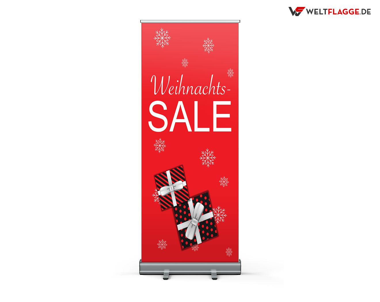 Weihnachts-SALE Roll-Up Banner bedrucken lassen