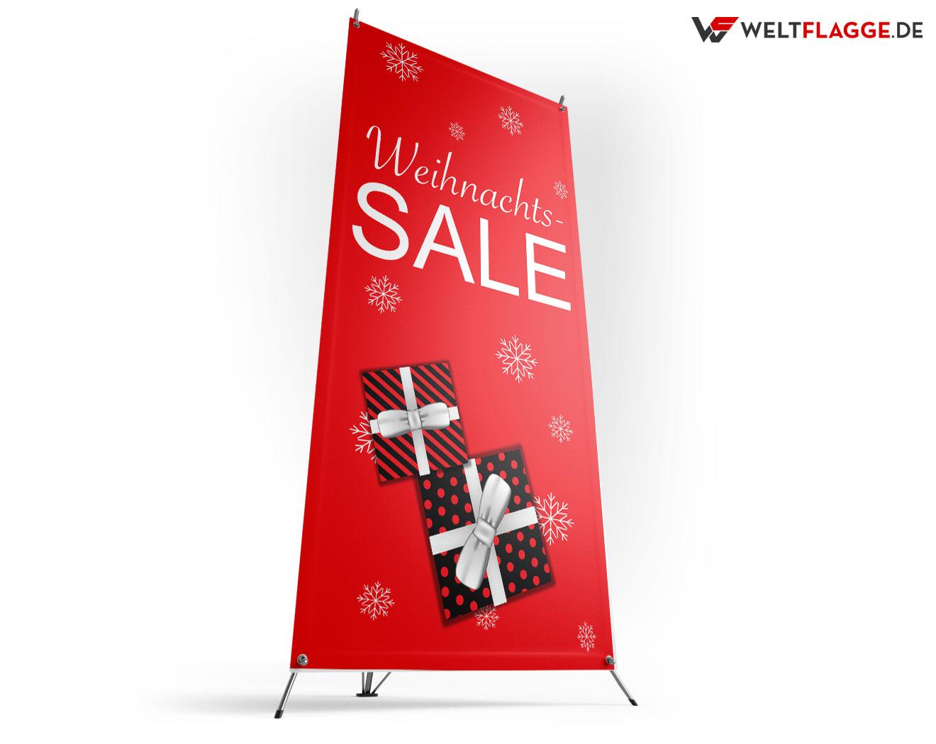 Weihnachts-SALE X-Banner bedrucken lassen