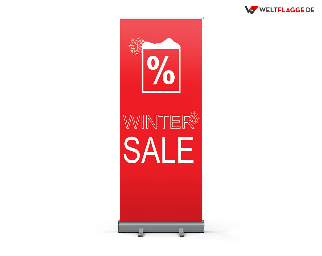 Winter SALE Roll-Up Banner bedrucken lassen