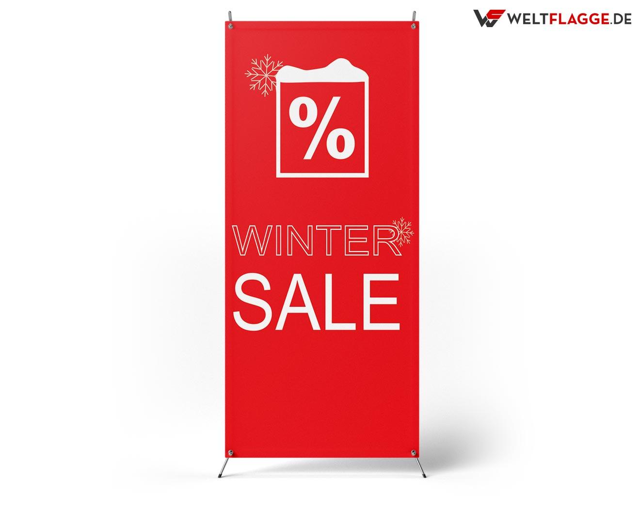 Winter SALE X-Banner bedrucken lassen