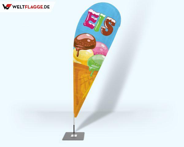 Eis Beachflag - Werbefahne - Werbebanner- v3