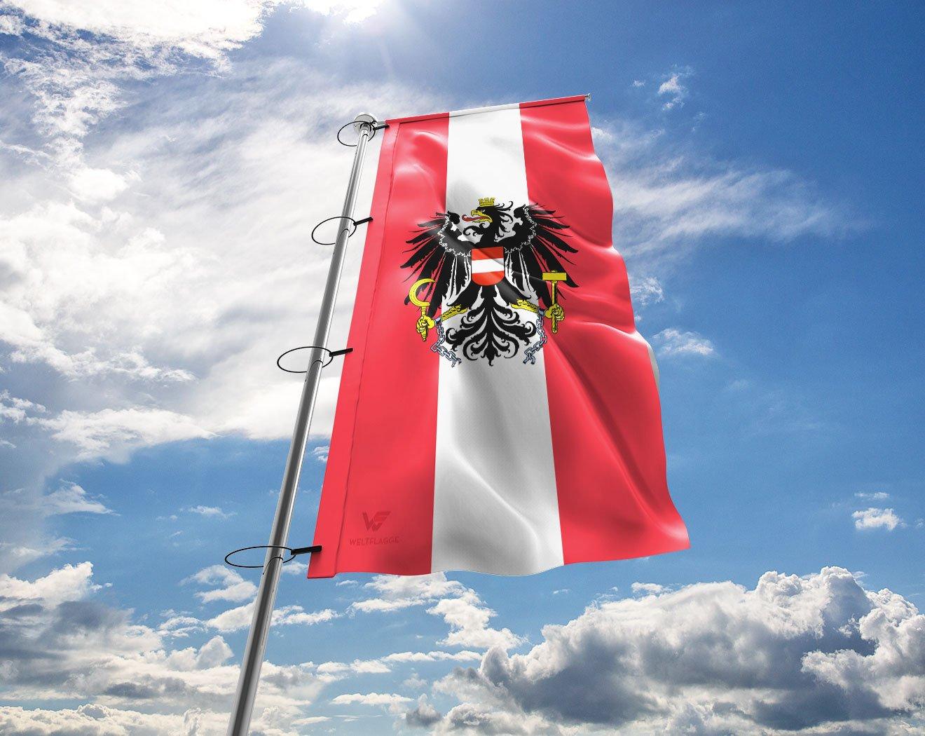 österreich österreichische Austria Fahne Mit Wappen Hissflagge