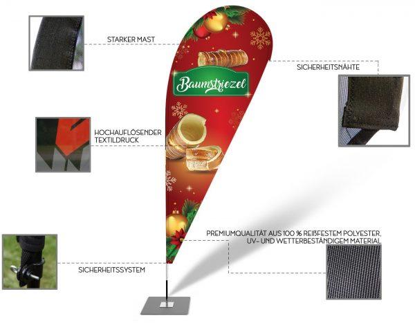Baumstriezel - Werbefahne - Werbebanner