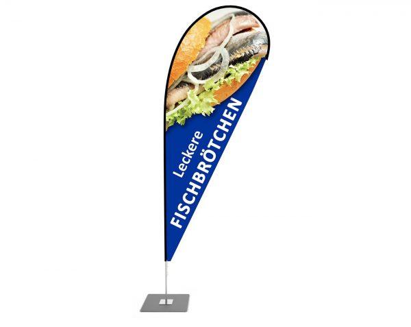 """""""Fischbrötchen, Imbiss"""" Beachflag, Beach fahne - Werbefahne - Werbebanner"""