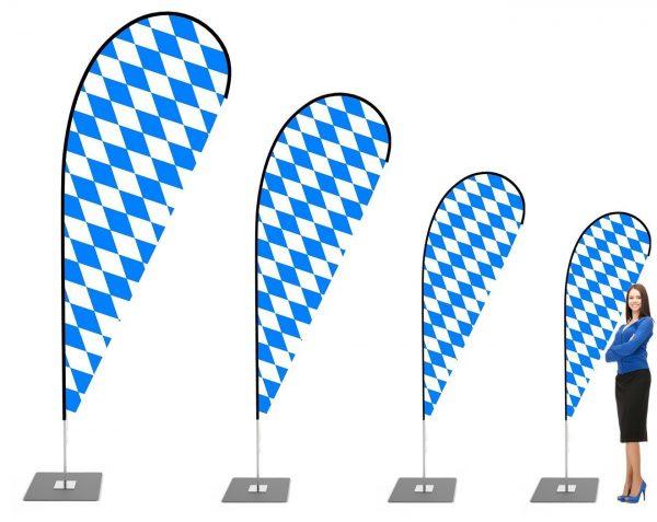 """Oktoberfest"" Beachflag, Beach fahne - Werbefahne - Werbebanner / V3"