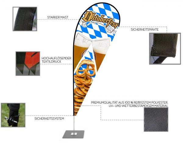 """Oktoberfest"" Beachflag, Beach fahne - Werbefahne - Werbebanner / V1"