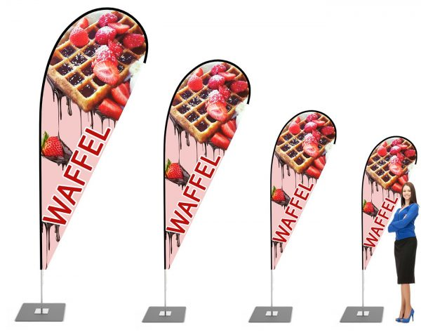 Waffel Imbiss Beachflag - Werbefahne - Werbebanner