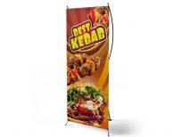 Best Kebab- X-Banner - PVC Planen Werbeplane