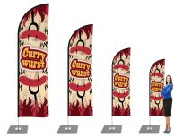 Currywurst / Curry / Imbiss / Wurst Beachflag - Werbefahne - Werbebanner