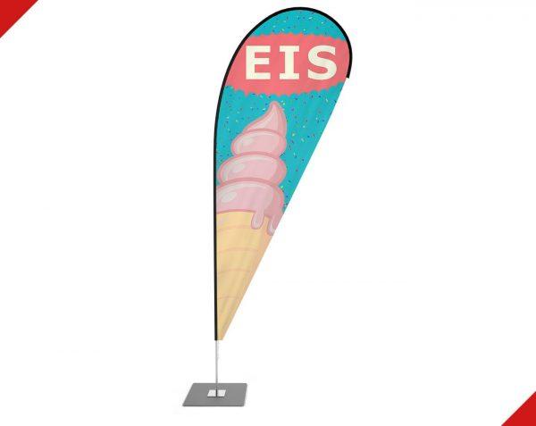 """Eis - Eisdiele - Gelato"" Beachflag - Werbefahne - Werbebanner"