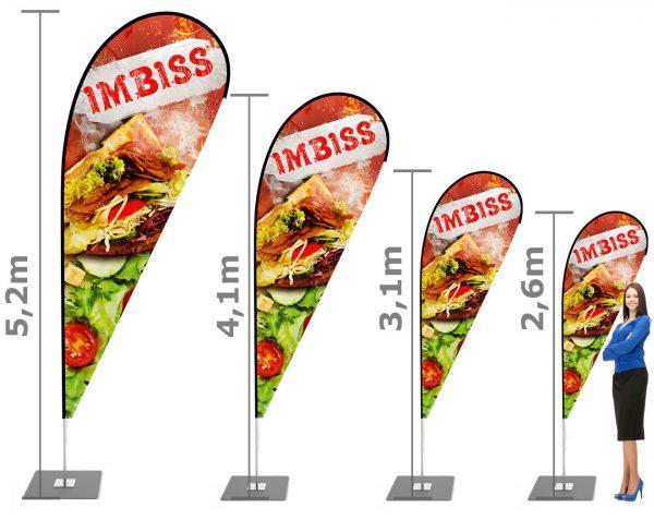 Döner, Imbiss, Kebab - Beachflag, Werbefahne, Werbebanner