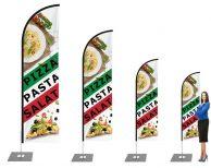 """""""Pizza, Pasta, Salat - Italienisch"""" Beachflag - Werbefahne - Werbebanner"""