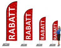 Rabatt / Aktion Beachflag - Werbefahne - Werbebanner