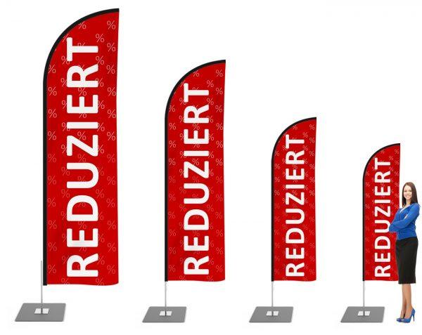 Reduziert / Aktion Beachflag - Werbefahne - Werbebanner