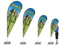 Grüner Spargel Beachflag - Werbefahne - Werbebanner