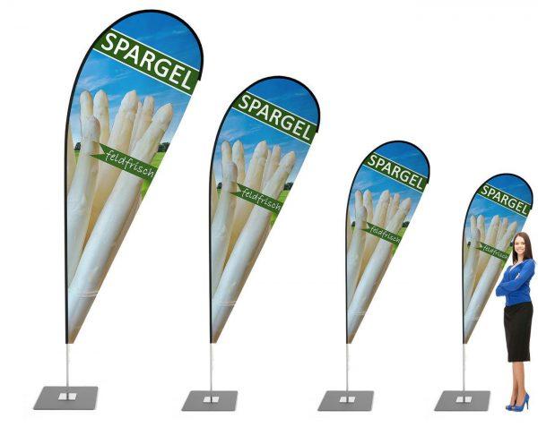 Weißer Spargel Beachflag - Werbefahne - Werbebanner