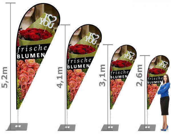 """""""Frische Blumen"""" Beachflag - Werbefahne - Werbebanner"""
