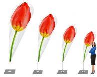 """""""Frische Blumen- Tulpe"""" Beachflag - Werbefahne - Werbebanner"""