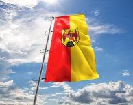 Burgenland Fahne mit Wappen, Hissflagge in vielen Größen und Befestigungen (Premiumqualität)