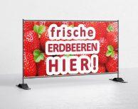 Erdbeeren Bauzaunbanner - banner - plane