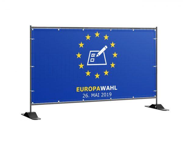 Europawahl 2019 Bauzaunbanner - banner - plane