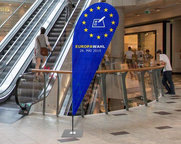 Europawahl 2019 Beachflag - Werbefahne - Werbebanner