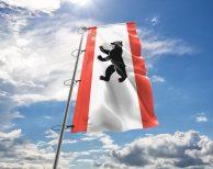Berlin - Flagge, Fahne, Hissflagge in vielen Größen und Befestigungen (Premiumqualität)