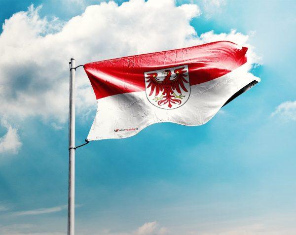 Brandenburg - Flagge, Fahne , Hissflagge in vielen Größen und Befestigungen (Premiumqualität)