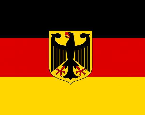 Deutschland National Flagge mit Adler (Handmade – Premiumqualität) - Hissfahne Flagge