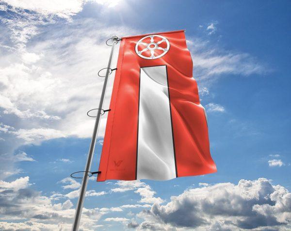 Erfurt – Flagge, Fahne , Hissflagge in vielen Größen und Befestigungen (Premiumqualität)
